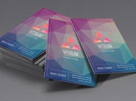 diseño grafico tarjetas personales vitrum